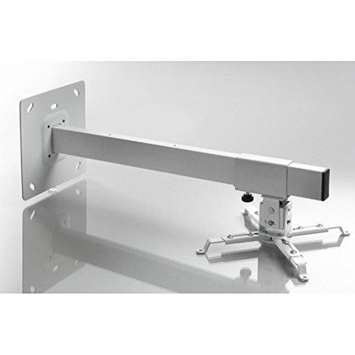 celexon Beamer-Wandhalterung MultiCel WM800 in weiß | Variabler Wandabstand bis 80 cm | Traglast 15 kg | Neig- und schwenkbar | Passend für Epson, Acer, Benq, LG, Optoma, Sony, ViewSonic uvm.