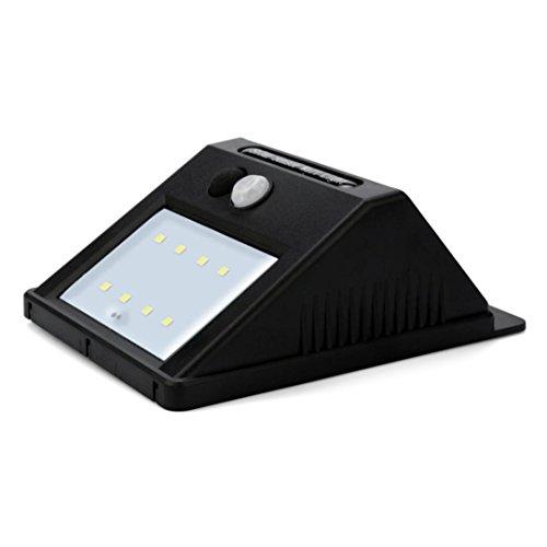 Solar Sensor Licht,Jaminy 8 LED Solar Power PIR Motion Sensor Wandleuchte Outdoor Garten Wasserdichte Lampe 17% Effizienz (Outdoor-pir-licht)