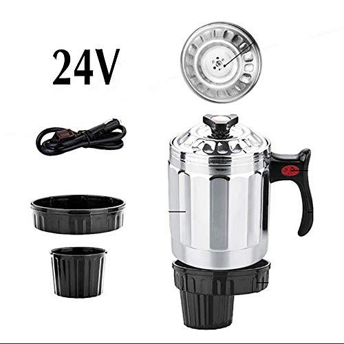RUIX Auto Wasserkocher,Auto 1L Edelstahl 12V / 24V Wasserkocher/Heizbecher / Reiskocher,12V