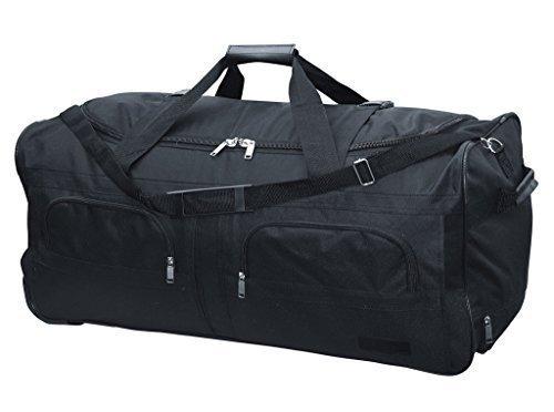 McAllister TravelSystem Reisetasche mit Rolen Trolley Sporttasche Reisetasche Schwarz 60L 80L 100L oder 140L 140 Liter