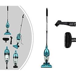 Leogreen - Aspirateur 2 en 1 Balai et à Main, Aspirateur sans Sac, Bleu, Capacité du bac à poussière: 1,3L, Système de filtration: Filtre HEPA Système de filtration efficace et lavable