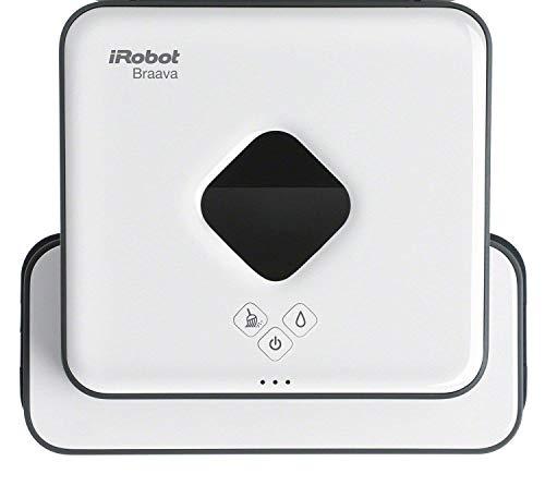 iRobot Braava 390T - Robot Fregasuelos y Mopa, para Múltiples Habitaciones y Casas Grandes, Silencioso, con 4 Paños Microfibra Incluidos