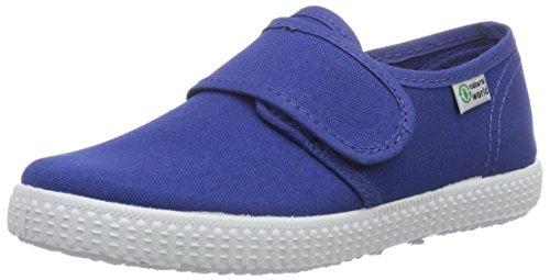 Natural World Blucher Velcro, Baskets Basses garçon Bleu - Bleu indigo