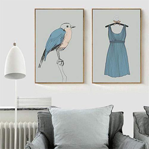 Nordic Kreative Dekoration Malerei Moderne Einfache Kostüm Muster Wohnzimmer Schlafzimmer Garderobe Wandbild Poster-50x70 cm Kein - Einfach Kreative Kostüm