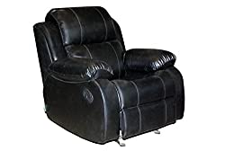 Recliners India Style 205 Single Seater Recliner-Black