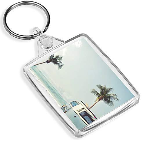 Ziel Vinyl Keyrings Surf Bus Schlüsselanhänger Palme Van Tropical Holiday Sommer-kühle Keyring Geschenk # 8394 - Vans Palmen