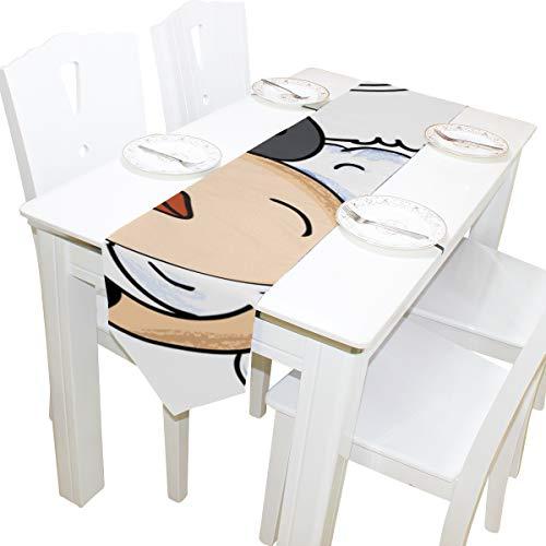 isen Musik Kommode Schal Tuch Abdeckung Tischläufer Tischdecke Tischset Küche Esszimmer Wohnzimmer Home Hochzeitsbankett Decor Indoor 13x90 Zoll ()