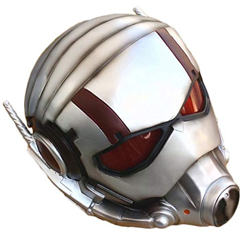QWEASZER Ant-Man und die Wespe, Ant-Man-Maske Marvel Legends Series Cosplay Mask - Perfekt für Karneval und Halloween - Erwachsenenmasken - Deluxe-Harzversion, Unisex,Ant Man-55cm~63cm