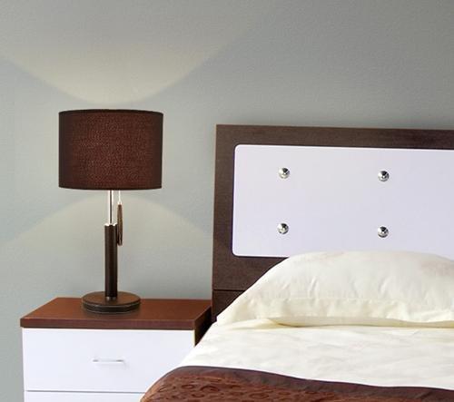 FWEF in acciaio inox tessuto tirare filo lampada IKEA moderno semplice moda caldo e Creative Wedding decorazione camera da letto camera da letto letto rosso illuminazione (20 * 28 * 53cm) . 3