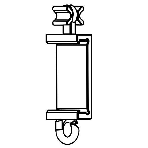 Clips Für Premium Paneelwagen mit den Maßen 25x2,5mm | Farbe weiß | zum Aufklipsen auf das Paneelwagenprofil (X-Gleiter 6mm) 2,5 Mm Clip