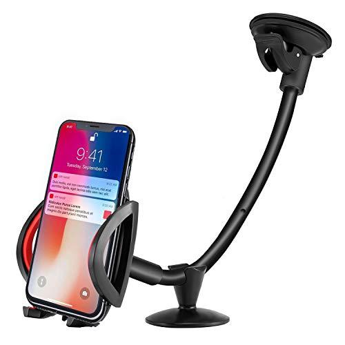 ipow Auto Handyhalterung mit Langem Arm für Armaturenbrett Schwanenhals KFZ Handy Halter universal kompatibel mit iPhone X/8/8 Plus/7/7 Plus/6/6s Galaxy S8/S7/S6 Edge/S5 und andere Smartphones - Schwanenhals-arm