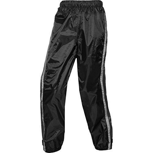 DXR Regenschutz, Regenhose Textilhose, wasserdicht, Ganzjahres-Wetterschutz, stabile Spezialqualität, Reflexstreifen, verschweißte Nähte, Schwarz, 4XL