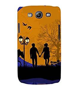 printtech Love Couple Moon Back Case Cover for Samsung Galaxy S3 / Samsung Galaxy S3 i9300