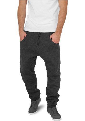 """Urban Classics pantaloni da jogging """"deep forcella in felpa"""", taglia: S, colore: Nero carbone"""