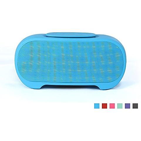 YunMei-Altavoz portátil estéreo Bluetooth, llamadas manos libres Función de la tarjeta del TF estéreo de escritorio a prueba de agua