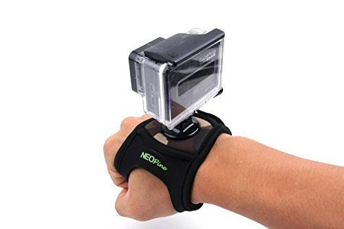 Olympus Gadget Bag (Mondpalast @Glove style Elastic Fahrrad Velcro Wrist Strap Band Hand Arm Mount Halterung für Gopro Hero 1 2 3 3 + Sport Kamera)