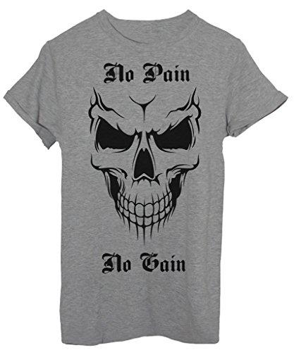 T-Shirt NO PAIN NO GAIN SKULL - STREET & SOCIAL - by iMage Grigio