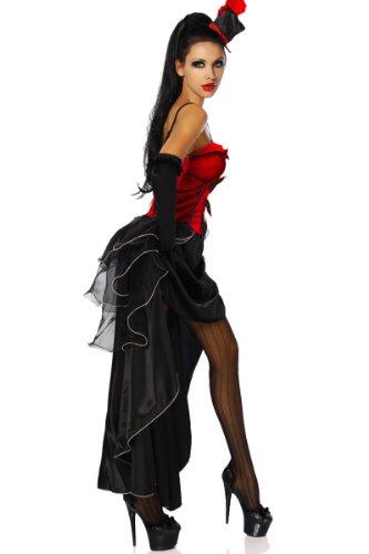 Cabarett-costume de style burlesque s-2XL taille - 6 pièces femme -  Rose - 48 Noir - Rouge/noir