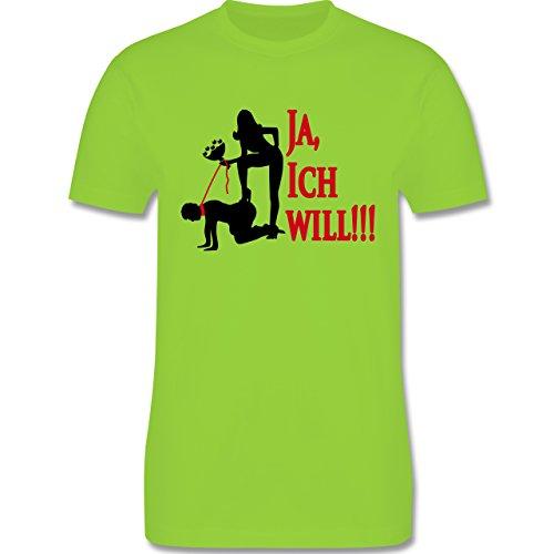 JGA Junggesellenabschied - Ja ich will - Herren Premium T-Shirt Hellgrün