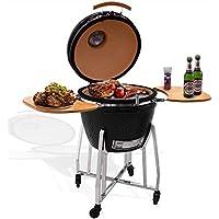 Syntrox Germany–kamado Barbacoa karnado 1Barbecue BBQ Barbacoa Barbacoa de carbón vegetal para ahumar
