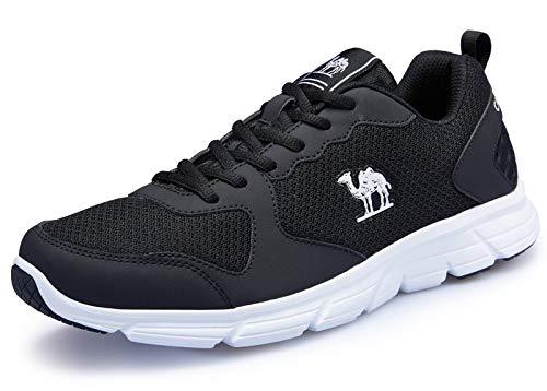 CAMEL Herren Sportschuhe Laufschuhe Sneaker Atmungsaktiv Leichte Traillaufschuhe (42 EU=UK 7.5=Fußlänge 26cm, Black)