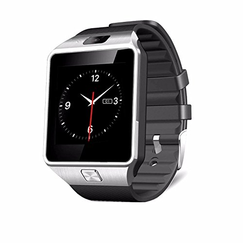 DXABLE Bluetooth Smartwatch - Armbanduhr Digital Sport Uhren - Support Support Nachricht Benachrichtigung TF Card Pedometer Sleep Monitor für IOS Android Samsung Htc LG Sony Blackberry Huawei SmartPhone (Silber)