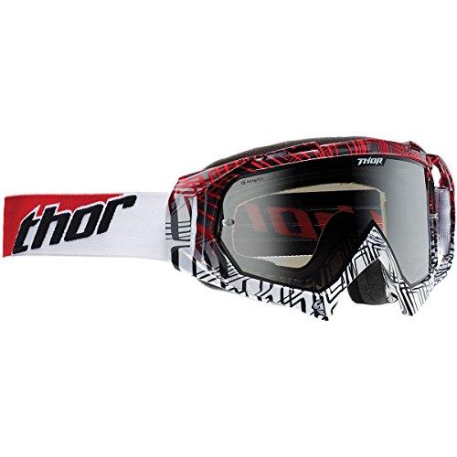 Thor Hero verpackt Korrosion rot/weiß Mountain Bike Motocross Goggle Enduro