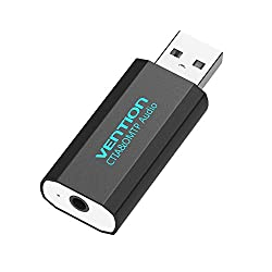 Vention Upgrade 3.5mm External Usb Sound Card Usb Adapter Usb Audio Adapter Card With Mic Usb To Jack 3.5 Converter For Ps4 Laptop Computer Headphone Sound Card