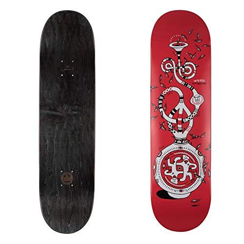 "Inpeddo Skateboard Deck Vase of Peace red 8.5\"""