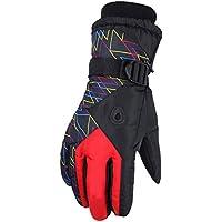Wilk Invierno Grueso algodón Lana Impermeable frío al Aire Libre Amantes de esquí Guantes Macho Rojo 1 Doble