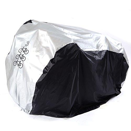 Fahrradschutzhuelle Fahrradhuelle Fahrradabdeckung fuer Fahrraeder inklusiv. Beutel silber schwarz L
