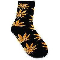 Qissy® Donne Uomini Marijuana Weed Maple Leaf lungo Skateboard Hip-hop