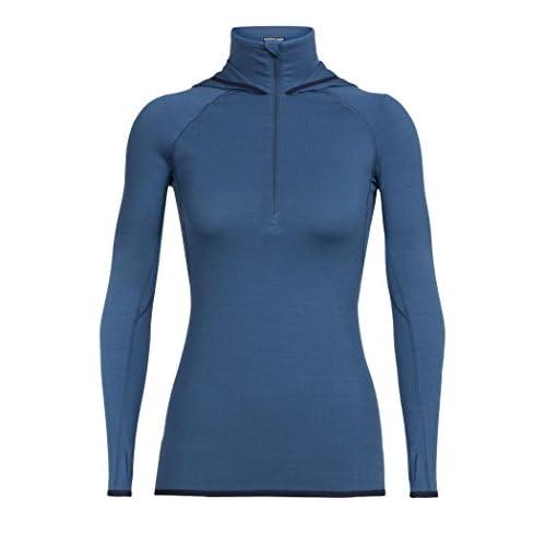 419 SV4B5RL. SS500  - Icebreaker Women's Fluid Zone Long Sleeve Half Zip Hoodie