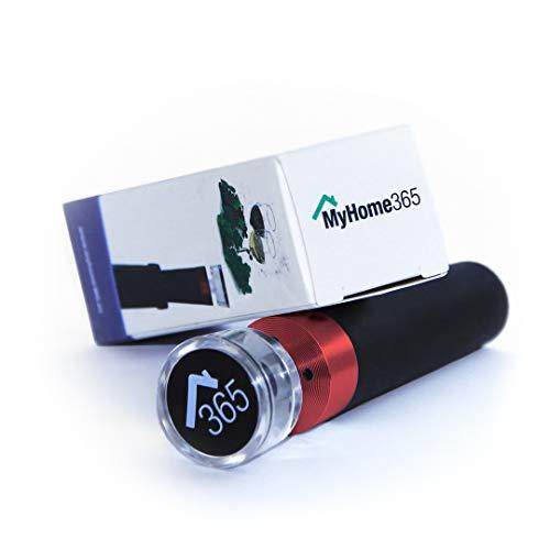 MyHome365 Vakuumverschluss für Wein und Flaschen, Ersatz für Korken, Vakuumpumpe integriert (Weinrot)