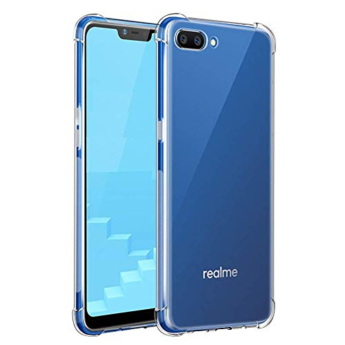 Efonebits Clear Case Ultra Transparent Silicone Gel Cover for Realme C2
