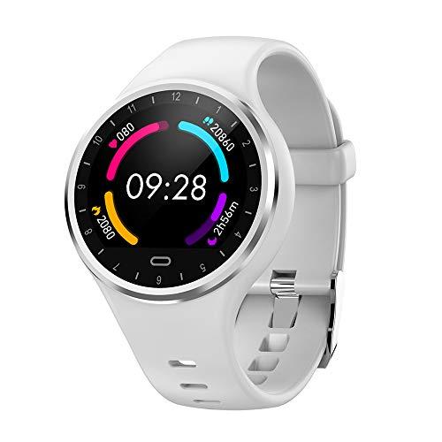 Reloj Inteligente Hombre Mujer, SoloKing Pulsera Actividad con Pulsómetros,Presión Arterial,Monitor de Sueño,Podómetro,Contador de Calorías,Notificación de Llamadas/SMS/Whatsapp(blanco)
