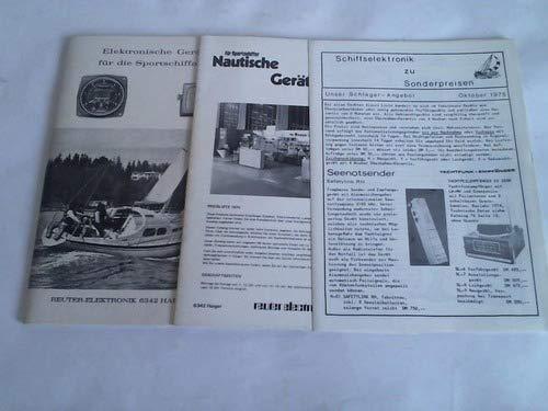 Elektronische Geräte für die Sportschiffahrt / Nautische Geräte / Schiffselektronik zu Sonderpreisen. 3 Kataloge