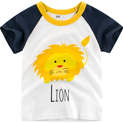 Cuteelf Kinder Kurzarm Kleinkind Kinder Baby Boy Brief Print T-Shirt Tops Shirts Kleidung Sommer Vielzahl Print Styles zur Auswahl Cute Naughty Sports Casual T-Shirt Holiday Boys Pullover