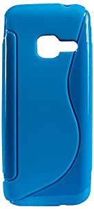 Purple Eyes New Sline Silicon Back case for Samsung Metro Duos B360 (Blue)