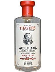 Thayers.co - Extrait de Pétales de Rose et d'Hamamélis avec Aloès Vera - sans Alcool - 355 ml