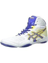 Zapato de lucha Snapdown para hombre, Gris / Azul verdadero / Girasol, 12 M US