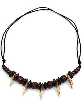 Herren Prähistorische Caveman Tribal Echt Wolf Zahn Halskette