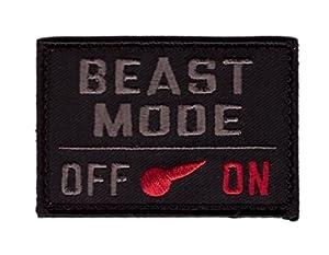 Hook Fastener Beast Mode Moral Tactical Embroidered Patch Tactique Écusson Brodé Fixation Crochet Par Titan One Europe