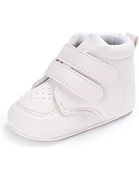 FNKDOR Neugeborene Baby Herzförmige Stickerei Weiß Sneaker Anti-Rutsch Schuhe