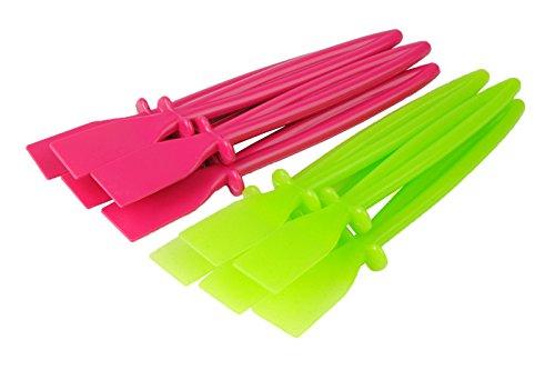 Kleber-Streichmesser ausKunststoff, PVA, 5x Pink und 5x Grün, 10 Stück