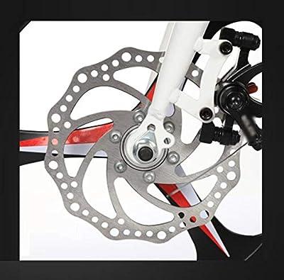 AOHMG Klapprad Fahrrad, 7-Gang-Schaltung Faltrad Klapprad Legierung Folding Bike Unisex,Black_16in