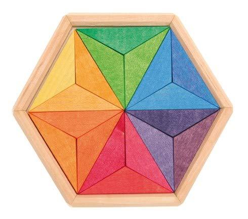 Puzzle estrella de colores