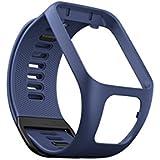 TomTom - Bracelet pour Montre TomTom Runner 3, Spark 3, Runner 2 & Spark Taille Large Bleu Marine (ref. 9UR0.000.02)