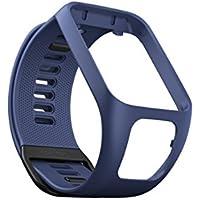 TomTom Bracelet pour Montre Runner 3, Spark 3, Runner 2 & Spark - Taille Large - Bleu Marine