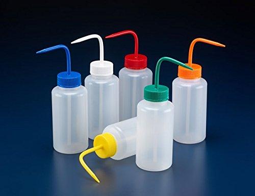 Sicherheits-spritzflaschen (azlon wgw443vt Waschen Flasche, Sicherheit Venting, breiter Hals, Weiß PP Verschluss, PP, 1000ml (5Stück))